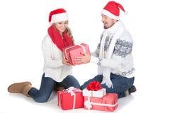 ζεύγος Χριστουγέννων Στοκ εικόνα με δικαίωμα ελεύθερης χρήσης