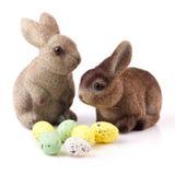 Ζεύγος bunnies Πάσχας Στοκ εικόνα με δικαίωμα ελεύθερης χρήσης