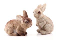 Ζεύγος bunnies Πάσχας Στοκ Φωτογραφίες