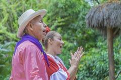 Ζεύγος Guayaquil Ισημερινός Montubios Στοκ φωτογραφία με δικαίωμα ελεύθερης χρήσης