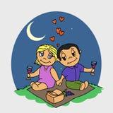 Ζεύγος picnic διανυσματική απεικόνιση