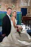 ζεύγος wed πρόσφατα Στοκ Εικόνες