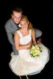 ζεύγος wed πρόσφατα Στοκ Φωτογραφία
