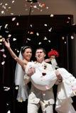 ζεύγος wed πρόσφατα Στοκ Φωτογραφίες