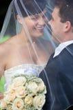 ζεύγος wed πρόσφατα Στοκ φωτογραφία με δικαίωμα ελεύθερης χρήσης