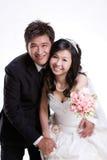 ζεύγος wed πρόσφατα Στοκ Εικόνα