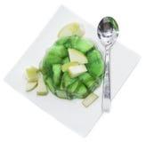 Ζελέ της Apple που απομονώνεται στο λευκό Στοκ Εικόνες
