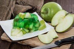 Ζελέ της Apple σε ένα πιάτο Στοκ Εικόνα