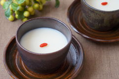Ζελατίνα αμυγδάλων, επιδόρπιο παραδοσιακού κινέζικου στοκ εικόνα