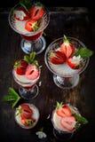 Ζελατίνα φρούτων στα γυαλιά Στοκ Εικόνες