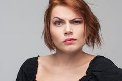 Ζηλοτυπία γυναικών Υποψία στη μοιχεία στοκ εικόνες