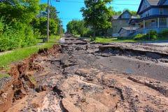 Ζημία ξαφνικών πλημμυρών του Μίτσιγκαν Houghton Στοκ εικόνα με δικαίωμα ελεύθερης χρήσης