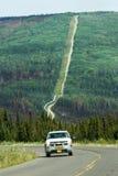 Ζημία πυρκαγιάς εθνικών οδών του Elliot σωληνώσεων Αλάσκα - δια-Αλάσκα Στοκ Εικόνες