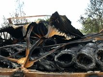 Ζημία πυρκαγιάς Στοκ φωτογραφίες με δικαίωμα ελεύθερης χρήσης