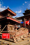 Ζημία σεισμού στην πλατεία Durbar, Κατμαντού, Νεπάλ Στοκ εικόνα με δικαίωμα ελεύθερης χρήσης