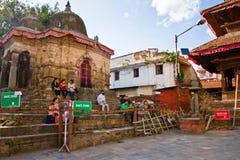 Ζημία σεισμού στην πλατεία Durbar, Κατμαντού, Νεπάλ Στοκ Φωτογραφία