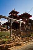 Ζημία σεισμού στην πλατεία Durbar, Κατμαντού, Νεπάλ Στοκ φωτογραφία με δικαίωμα ελεύθερης χρήσης