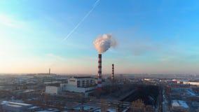 Ζημία στο περιβάλλον και οικολογία με το κάπνισμα των σωλήνων απόθεμα βίντεο