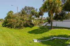 Ζημία της Irma τυφώνα Στοκ εικόνες με δικαίωμα ελεύθερης χρήσης