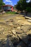 Ζημίες аfter που πλημμυρίζουν στις 19 Ιουνίου της Βάρνας Βουλγαρία Στοκ εικόνες με δικαίωμα ελεύθερης χρήσης