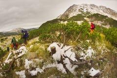 Ζημιά από τους τουρίστες Carpathians στοκ φωτογραφίες