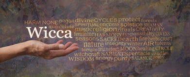 Ζημιά καμία σύννεφο ετικεττών Wicca Word στοκ εικόνες
