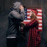 Ζηλοτυπία στην αμερικανική οικογένεια Σύγκρουση στοκ φωτογραφία με δικαίωμα ελεύθερης χρήσης