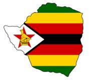 Ζιμπάπουε Χάρτης της διανυσματικής απεικόνισης της Ζιμπάμπουε στοκ φωτογραφίες με δικαίωμα ελεύθερης χρήσης