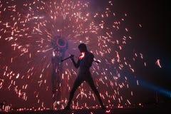 ζογκλέρ πυρκαγιάς Στοκ Εικόνες