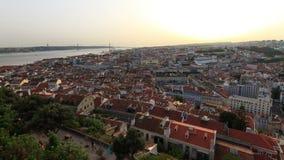 Ζουμ ηλιοβασιλέματος της Λισσαβώνας timelapse απόθεμα βίντεο