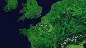 Ζουμ του Παρισιού - της Γαλλίας μέσα από το διάστημα