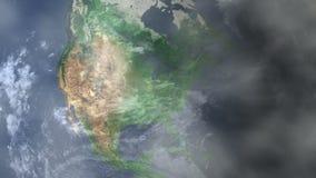 Ζουμ του Τζάκσονβιλ - των Ηνωμένων Πολιτειών μέσα από το διάστημα απόθεμα βίντεο