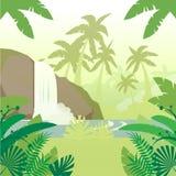 Ζούγκλα επίπεδο Background4 Στοκ Εικόνες