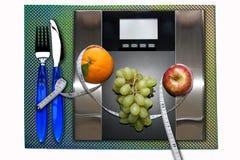 Ζυγίστε το γεύμα κλίμακας στοκ εικόνα