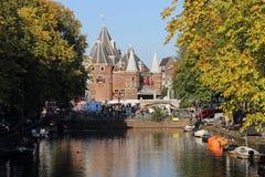 Ζυγίστε το σπίτι στο Άμστερνταμ, Ολλανδία Στοκ Φωτογραφία