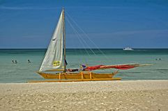 Ζυγοστάτης Beached, νησί Boracay, Φιλιππίνες Στοκ φωτογραφία με δικαίωμα ελεύθερης χρήσης