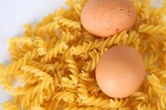 ζυμαρικά αυγών στοκ φωτογραφία