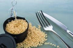 Ζυμαρικά και μαγειρεύοντας δοχείο Στοκ εικόνες με δικαίωμα ελεύθερης χρήσης