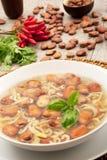 Ζυμαρικά και σούπα φασολιών Στοκ φωτογραφία με δικαίωμα ελεύθερης χρήσης