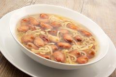 Ζυμαρικά και σούπα φασολιών Στοκ Φωτογραφία