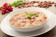 Ζυμαρικά και σούπα φασολιών Στοκ εικόνες με δικαίωμα ελεύθερης χρήσης