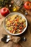 Ζυμαρικά και φασόλια, καρότα και σέλινο Στοκ Εικόνες