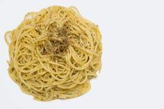 Ζυμαρικά με το σκόρδο και το κόκκινο - καυτό πιπέρι τσίλι Στοκ Εικόνες