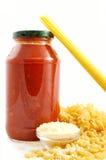 ζυμαρικά συστατικών Στοκ εικόνες με δικαίωμα ελεύθερης χρήσης