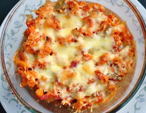Ζυμαρικά τυριών με την ντομάτα Στοκ φωτογραφίες με δικαίωμα ελεύθερης χρήσης