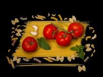 Ζυμαρικά Igredients για στοκ φωτογραφία με δικαίωμα ελεύθερης χρήσης
