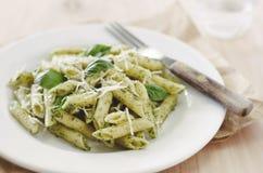 Ζυμαρικά Pesto Στοκ Εικόνες