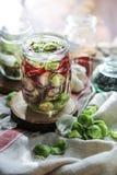 ζυμωνομμένος veggies στοκ εικόνες