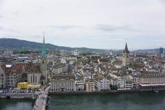 Ζυρίχη άνωθεν, Ελβετία Στοκ εικόνες με δικαίωμα ελεύθερης χρήσης
