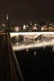 Ζυρίχη τή νύχτα Στοκ φωτογραφία με δικαίωμα ελεύθερης χρήσης